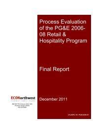 Process Evaluation of the PG&E 2006-08 Retail ... - calmac