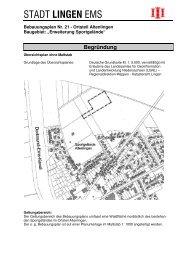 Begründung BPlan Nr. 21 - Stadt Lingen