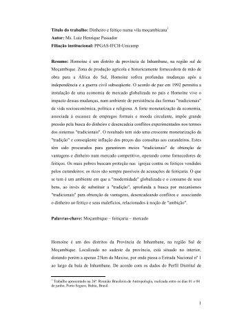 Paper para apresentação - ABA 2008 ... - Casa das Áfricas