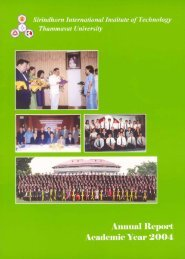 SIIT Annual Report, Academic Year 2004 - Sirindhorn International ...