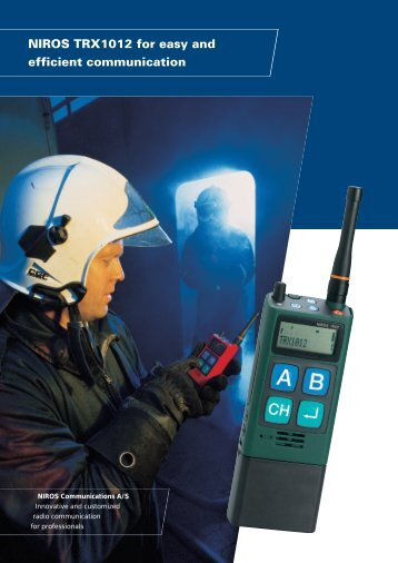 NIROS TRX1012 for easy and efficient communication - TC Connect