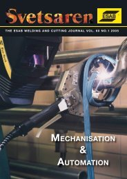 MECHANISATION AUTOMATION - ESAB Welding & Cutting Products