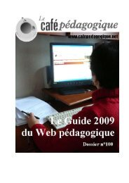 Le Guide en pdf (attention 7 Mo!) - Café pédagogique