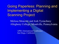Going Paperless: Planning and Implementing a Digital Scanning ...