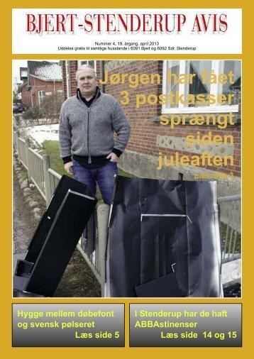 Jørgen har fået 3 postkasser sprængt siden juleaften - Sdr. Stenderup