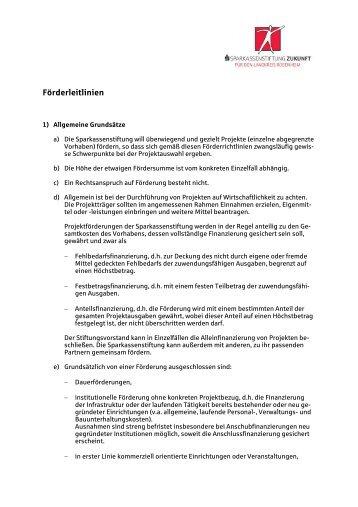 Förderrichtlinien (Spk-Stiftung Zukunft f.d. Landkr. Rosenheim)