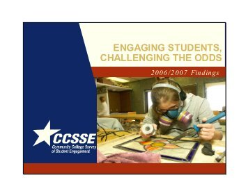2006 CCSSE Report (pdf) - Belmont College