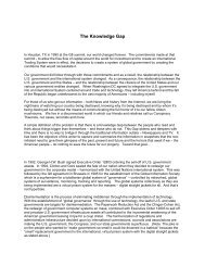Subject: The Knowledge Gap - Channeling Reality