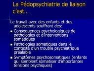 La Pédopsychiatrie de liaison c'est… - HUG - Département de l ...