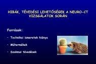 Hibák, tévedési lehetőségek a Neuro-CT vizsgálatok során