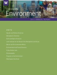 Annual Report, 2011-2012 - College of the Environment - University ...