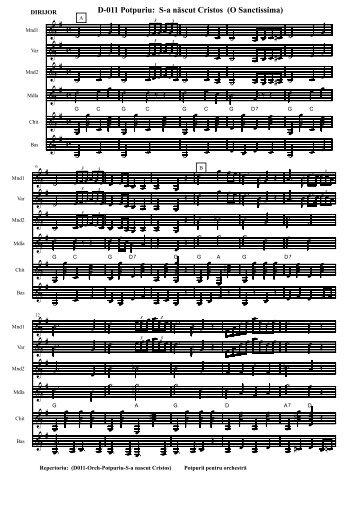 Finale 2002 - [D011-Orch-Potpuriu-S-a nascut Cristos.MUS]