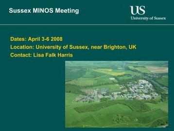 Sussex - PDF - MINOS DocDB