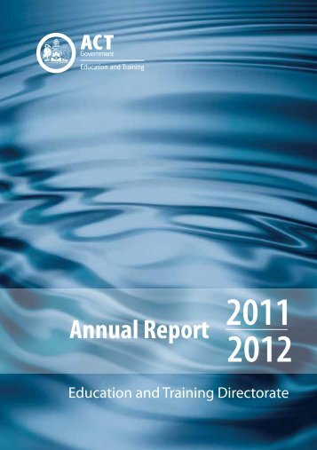 Annual Report 2011-2012 - Education and Training Directorate ...