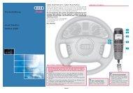 Kurzanleitung Audi Telefon NOKIA 6091