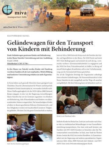 Geländewagen für den Transport von Kindern mit ... - miva Schweiz