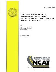 use of normal propyl bromide solvents for ... - Auburn University