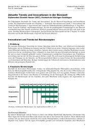 Aktuelle Trends und Innovationen in der Bürowelt - Prof. Hans Geser