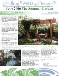 June 2006 The Summer Garden - Falling Water Designs