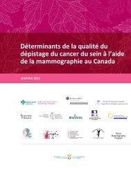Déterminants de la qualité du dépistage du cancer ... - cancerview.ca