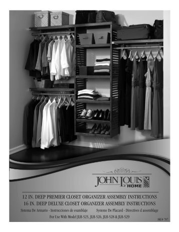 12 in. deep premier closet organizer assembly instructions 16 in ...