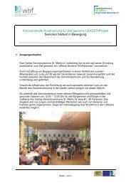 Konzeptionelle Ausarbeitung für das geplante LEADER-Projekt ...