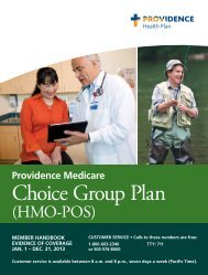 Evidence of Coverage - Providence Health Plan - Providence Health ...
