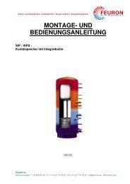 MONTAGE- UND BEDIENUNGSANLEITUNG - Feuron AG