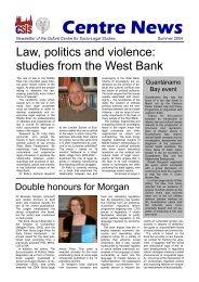 Centre News 4.pub - Centre for Socio-Legal Studies