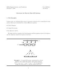 Structures for Discrete-Time LTI Systems.