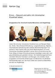 Evivo – Gesund und aktiv mit chronischer Krankheit leben