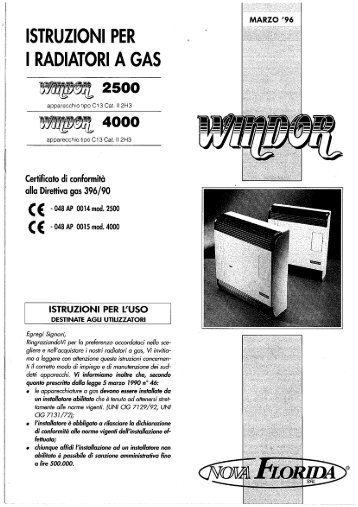 Ventilconvettori Nova Florida Windor 2500 - 4000 - Certened