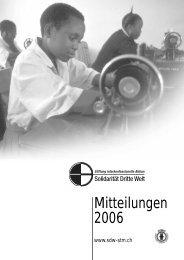 Mitteilungen 2006 - Solidarität Dritte Welt