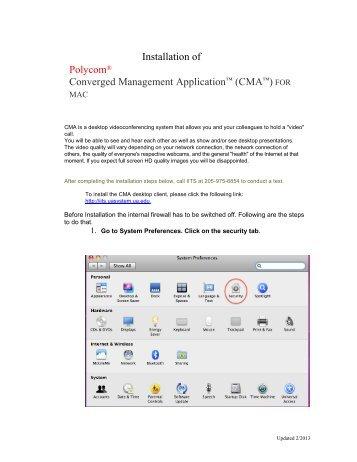 Installation of Polycom® Converged Management Application ... - IITS
