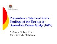 Prevention of Medical Errors: Findings of the Threats to Australian ...