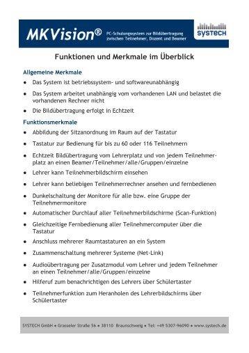Funktionen und technische Daten MKVision® digital
