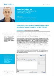 btexx html editor pro Professioneller HTML-Editor für SAP ...