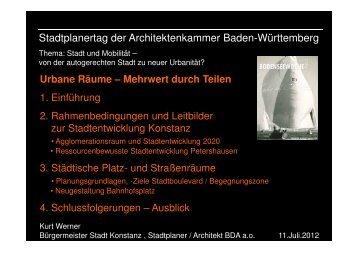 Urbane Räume - Architektenkammer Baden-Württemberg