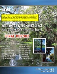 Wekiva Parkway & Protection Act Master Stormwater Management ...