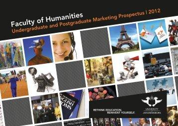 Humanities Prospectus 2012.pdf - University of Johannesburg