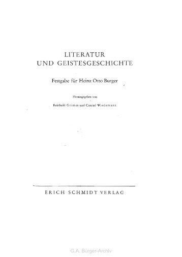 Gottfried August Bürgers Sonett An das Herz. - Leben und Werk des ...