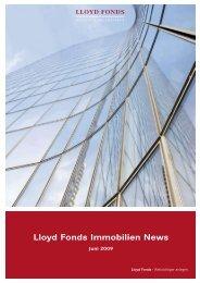 Lloyd Fonds Immobilien News - Lloyd Fonds AG