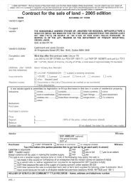 Contract for the sale of land — 2005 edition