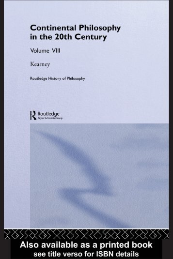 Routledge History of Philosophy Volume VIII