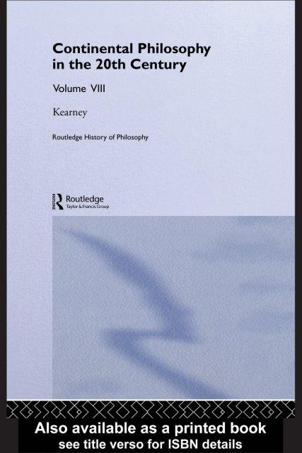 foto de Routledge History of Philosophy Volume VIII