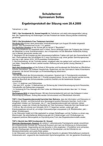 28.04.2009 - Elternrat des Gymnasium Soltau