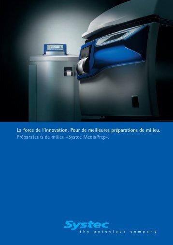 Préparer et stériliser des substances microbiologiques rapide - Systec