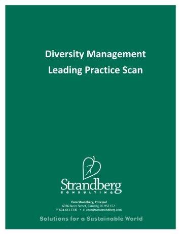 Diversity Management Leading Practice Scan - Coro Strandberg