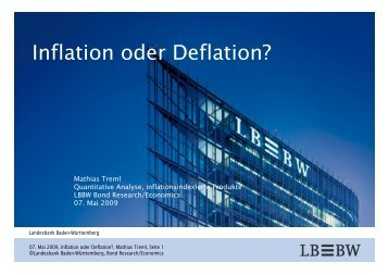 Inflation oder Deflation - forum-kapitalmarkt.de