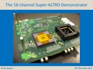 The S-ALTRO ADC and DSP based front-end chip (pdf)